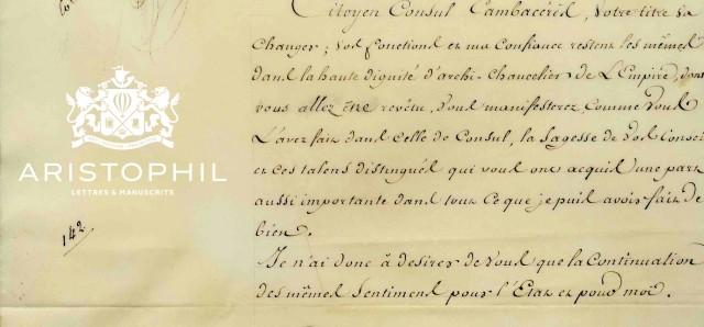 Lettre de Bonaparte