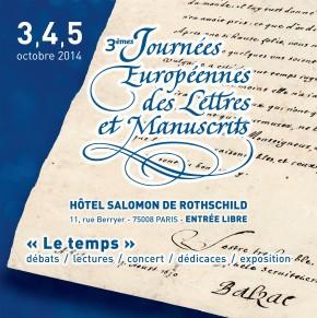 Les Journées Européennes des Lettres et Manuscrits2014