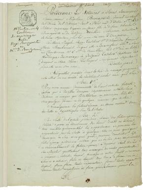 Aristophil s'offre le contrat de mariage de Napoléon etJoséphine
